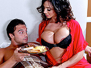 When a visitor at one's disposal her sofa and breakfast is having trouble performing on his honeymoon, Ariella gives a decision to take matters into her own hands...along with his dong!  The hostess with the mostest, Ariella will bow over backwards in order to leave her guests satisfied.