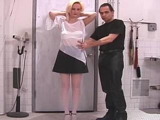 Sexy bitch gets hog bound and tit-tortured