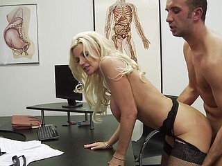 Dr. Andrews is nobody's fool. Heck, this babe's a doctor! But when Keiran Lee walks into her practice with a bit of, ahem, large trouble, this babe throws caution to the wind and gives a decision to literally sink her teeth into the problem. Is Keiran's wang really too large for a fucking-rubber? Dr. Andrews gets to the bottom of it and, as usual, urges paramours everywhere (no matter how large) to wrap their tool in advance of sex.